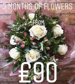 3 Month Subscription Flowers